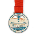 Zinc Alloy Metal 13.1 Finisher Running Medal Dog Hand Malaysia Mounting