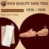 Civière personnalisée réglable de chaussure de logo de tubes en bois deux, arbre de chaussure