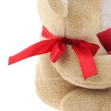 Coração vermelho fornecedor enchido do urso do luxuoso dos brinquedos do urso da peluche do luxuoso