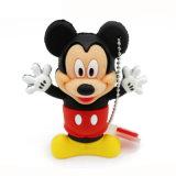 만화 마우스 USB 섬광 드라이브 PVC 동물성 USB 지팡이