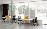 Partition en bois en verre en aluminium moderne de bureau de poste de travail de compartiment (NS-NW130)