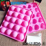 Moulage de traitement au four de silicones de sucrerie de bruit de décoration de gâteau de 20 cavités