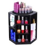 Rotación de 360 /cosméticos de sobremesa giratorio de almacenamiento de gran capacidad de maquillaje elegante en negro/Organizador cosméticos