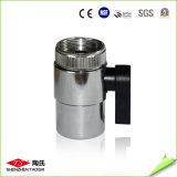 Válvula de esfera metálica de 1/4 '' em filtro de água
