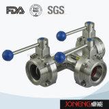 De Hygiënisch-sanitaire Pneumatische Vleugelklep van het roestvrij staal (jn-BV1003)