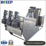 El PLC controla la máquina de desecación de la prensa Volute en el tratamiento de aguas residuales