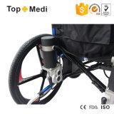 Sedia a rotelle pieghevole di energia elettrica di piegatura resistente di alluminio della rotella posteriore di modo dell'apparecchio medico