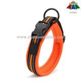 Caliente-venta de alta calidad del deporte del color sólido del estilo de 20mm collar de perro de poliéster ajustable con reflectante de Gaza