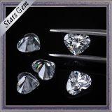 [6إكس6مّ] قلب شكل باهر قطعة لون أبيض تكعيبيّ زركونيوم أحجار لأنّ نمو مجوهرات