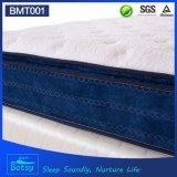 Tailles de matelas comprimées par OEM 30cm élevés avec la couche Pocket Relaxing de mousse d'onde de ressort et de massage