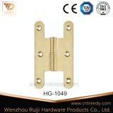 H様式のラウンド・コーナ(HG-1049)が付いている内部ドアのハードウェアの真鍮のヒンジ