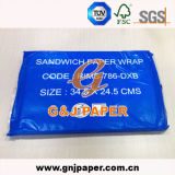 34.5X24.5cm del medio ambiente Tamaño sándwich envuelto en papel para la venta
