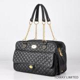Fashion Design Grid Dog Bags Métal Golden Chain Pet Petriers