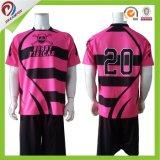Chemise du rugby des femmes en gros de bonne qualité/Jersey noirs professionnels de rugby