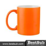 Caneca fluorescente de 11 oz (geada, laranja avermelhada) (B11WJH)