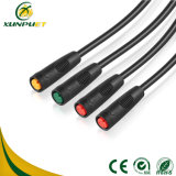 Водоустойчивый делят 2pin-6pin, котор кабель разъема велосипеда поручая