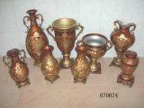 Porcellana domestica della decorazione/vaso di fiore classico di ceramica con la decalcomania