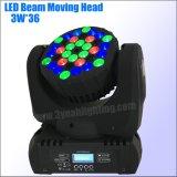 36*3W RGBW LED bewegliches Hauptträger-Licht