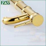 Tarauds montés par paquet à levier unique classique d'or de robinet de salle de bains de Flg
