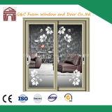 Portes coulissantes d'épreuve saine et d'aluminium thermique de double vitrage d'interruption