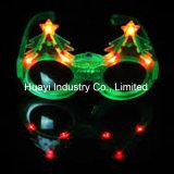 Sonnenbrillen des Weihnachtsbaum-blinkende Funkeln-LED