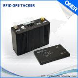 O perseguidor do veículo do GPS com excitador de RFID identifica, gerência da frota