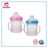 7oz BPA liberano la tazza di plastica di Sippy per l'acqua potabile del bambino
