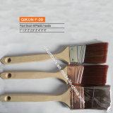 Cepillo de pintura sintetizado de los filamentos de la maneta de madera F-09