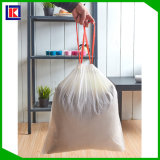 プラスチック生物分解性のドローストリングのごみ袋