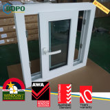 PVC Vinil Storm Proof Tinted Horizontal Slide Glass Janelas para Casa