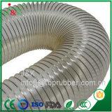 Custom de PVC flexible, manguera de recolección de polvo de color claro