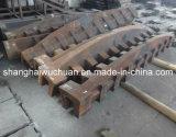 金属のシュレッダーの粉砕機のためのマンガンの鋳造の部品