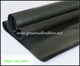 Feuille en caoutchouc de Hypalon, roulis en caoutchouc de couvre-tapis, couvre-tapis en caoutchouc noir