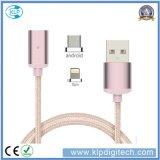 Зазор Распродажа! ! ! Универсальный 2 в 1 нейлоновой оплеткой магнитный USB-кабель передача данных с несколькими зарядное устройство для iPhone Android