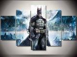 2017 druckte populäres 5 Panel HD Superheld-Batman-Abbildung-Segeltuch-Drucke