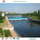 Self-Regulating 도시에 있는 조경으로 물에 의하여 채워지는 고무 댐
