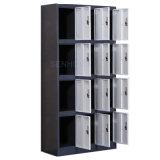 12 de Kast van het Metaal van de Garderobe van het Staal van deuren voor het Gebruik van de Opslag