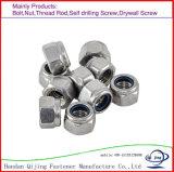 Clase 4 del carbón de DIN982/Bsw/Bsf/Unc/Unf/del acero inoxidable A2-70 6 8 azules/cinc de nylon Hex de las tuercas de fijación de la pieza inserta de la tuerca del anillo blanco