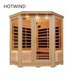 Cubicolo dell'interno di sauna della stanza di sauna di Infrared lontano