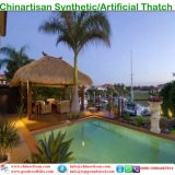 Естественный смотря Thatch листьев ладони Thatch пожаробезопасного водоустойчивого синтетического Thatch искусственний в задворк Мальдивов Бали Африки