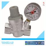 NPT латунные воды уменьшение давления клапан с манометром