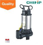 pompe ad acqua sommergibili delle acque luride dell'acciaio inossidabile 1.1kw con la ventola di taglio per acqua sporca