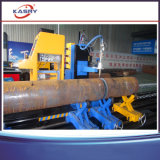 Cortador de cruzamento da flama do plasma da câmara de ar da tubulação de aço de máquina de estaca da tubulação redonda
