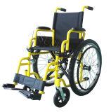 Bambini, manuale d'acciaio, sedia a rotelle, (YJ-013B)