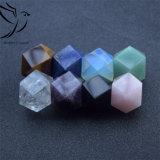 Comércio por grosso a granel de qualidade superior Bela Rose Quartz Poliedro Cubo de cristal para decoração