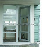 Portes en aluminium de balcon articulées par franchise Non-Instructive