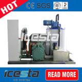 1000kg/Day de commerciële Machine van de Vlok van het Ijs met de Bak van het Ijs