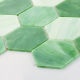 カラーは決してモザイク・タイルBacksplashのための六角形のパタングラスの衰退しない