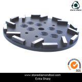10-дюймовый бетонный пол шлифовки пластину для радиального пол машины