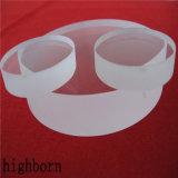 Surtidor a prueba de calor claro de los planos del vidrio de cuarzo